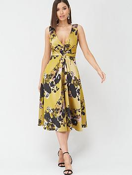 Little Mistress Little Mistress Floral Midi Jacquard Dress - Multi Picture