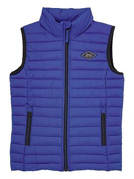 Joules Joules Boys Crofton Padded Gilet - Blue Picture