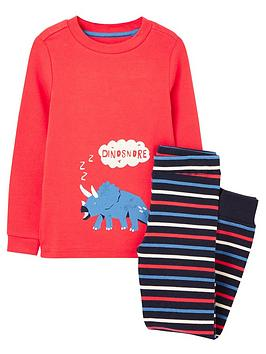joules-boys-dinosnore-pyjama-set-red