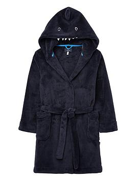 Joules Joules Boys Shark Dressing Gown - Navy Picture