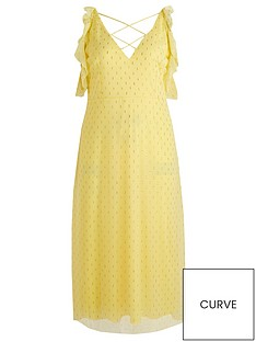 little-mistress-curve-cold-shoulder-lurex-midaxi-dress-lemonnbsp