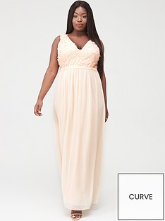 little-mistress-curve-applique-sleeveless-mesh-maxi-dress-nude