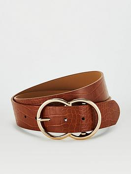 V by Very V By Very Lydia Double Buckle Belt - Tan Picture