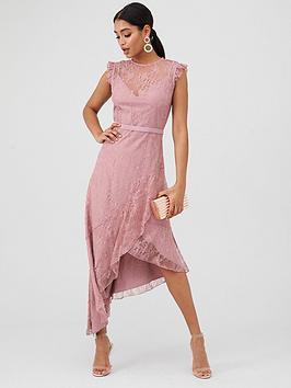 Little Mistress Little Mistress Lace Maxi Dress - Blush Picture