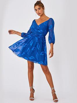 little-mistress-mini-applique-chiffon-dress-blue