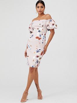 Little Mistress Little Mistress Bardot Floral Shift Dress - Mutli Picture