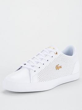 Lacoste Lacoste Lerond 120 Trainers - White/Gold Picture