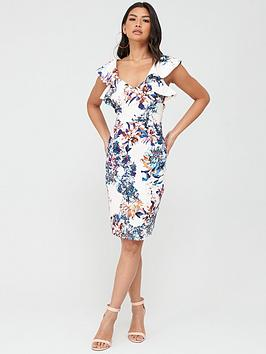 Little Mistress Little Mistress Floral Midi Dress - Multi Picture