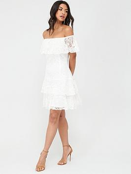 Little Mistress Little Mistress Mini Tiered Embroidered Dress - White Picture