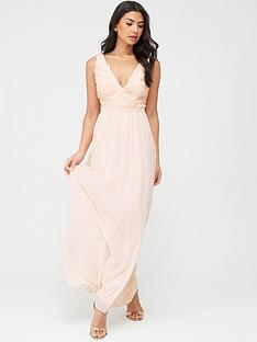 little-mistress-maxi-applique-sleeveless-mesh-dress-nude