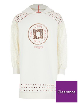 river-island-girls-ri-lace-sleeve-hoodie-dress-cream