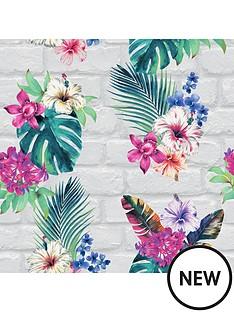 accessorize-accessorize-camden-brick-floral-wallpaper