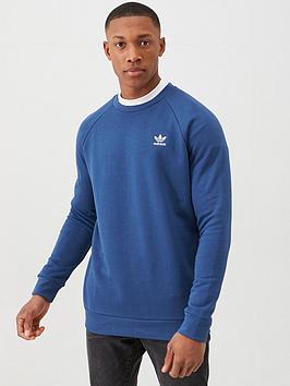 adidas Originals Adidas Originals Essential Crew Neck Sweat - Navy Picture