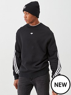 adidas-originals-3-stripe-wrap-crew-neck-sweat-black