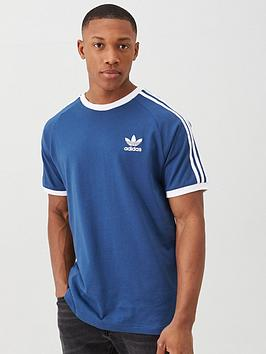 adidas Originals Adidas Originals 3 Stripe California T-Shirt - Navy Picture