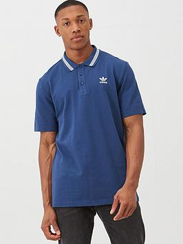 adidas Originals Adidas Originals Pique Polo - Navy Picture