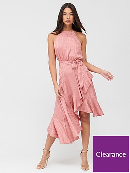 u-collection-forever-unique-ruffle-halterneck-dress-pink