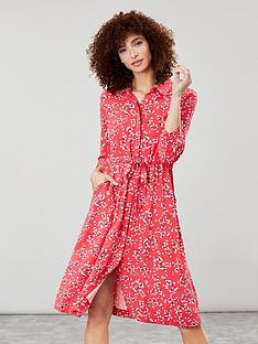 joules-winslet-button-front-shirt-dress-red