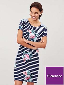 joules-imelda-jersey-woven-mix-dress-navy