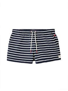 joules-elle-jersey-stripe-shorts-navy