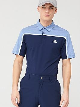 Adidas Adidas Golf Ultimate 3 Stripe Polo - Navy Picture