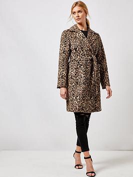 dorothy-perkins-dorothy-perkins-animal-patch-pocket-wrap-coat-multi