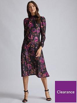 dorothy-perkins-purple-high-neck-midi-dress-purple