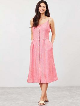 Joules Joules Joules Abby Button Through Strappy Dress Picture