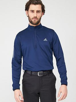 Adidas Adidas Golf 3-Stripe Midweight 1/4 Top - Navy Picture