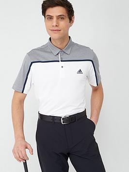 Adidas Adidas Golf Ultimate 3 Stripe Polo - White/Grey Picture