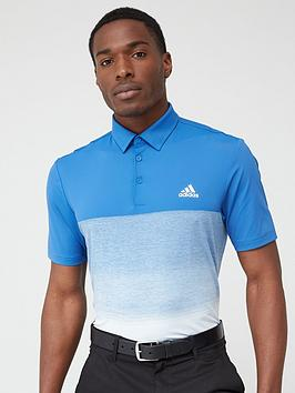 Adidas   Golf Ultimate 1.1 Print Polo - Navy