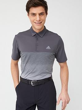 Adidas   Golf Ultimate 1.1 Print Polo - Grey