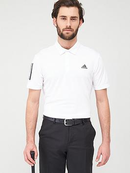 Adidas   Golf 3-Stripe Basic Polo - White
