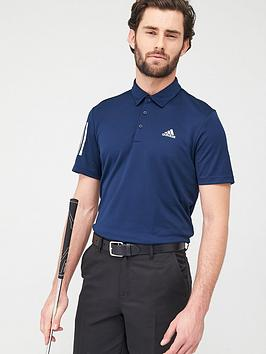 Adidas   Golf 3-Stripe Basic Polo - Navy