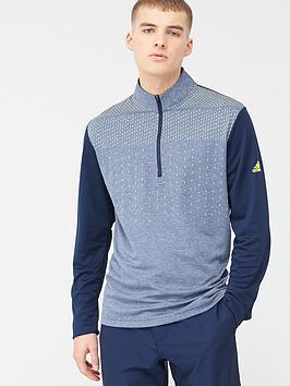 Adidas   Golf Lightweight 1/4 Zip Top - Navy