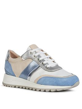 Geox Geox Tabelya Suede Trainer - Blue White Picture