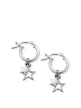 ChloBo Chlobo Sterling Silver Double Star Small Hoops Picture