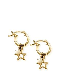 chlobo-sterling-silver-gold-double-star-hoops