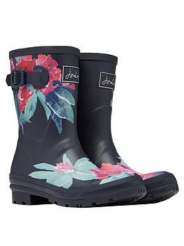 Joules Joules Mid Height Printed Welly - Navy Picture