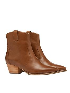 Joules Joules Mayfair Leather Pointed Boot - Tan Picture
