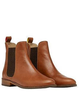 Joules Joules Westbourne Leather Chelsea Boots - Tan Picture