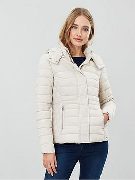 Joules Joules Linden Short Padded Jacket - Ivory Picture