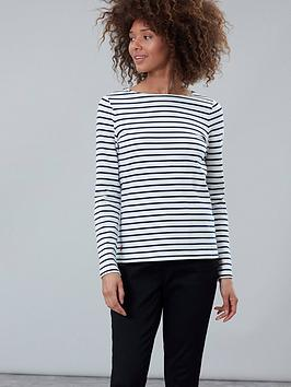 joules-striped-harbour-top-navy-cream