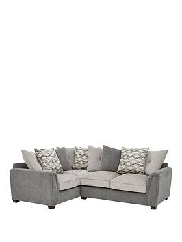 Very Orson Fabric Left Hand Double Arm Corner Group Scatter Back Sofa Picture