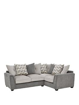 Very Orson Fabric Right Hand Double Arm Corner Group Scatter Back Sofa Picture