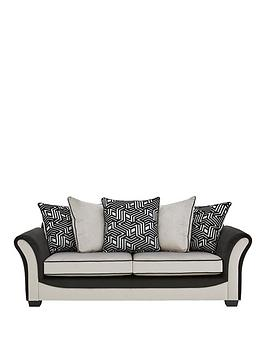 Very Atmos Fabric 3 Seater Scatter Back Sofa Picture
