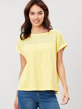 Joules Joules Joules Cassi Fabric Mix Jersey Top Picture