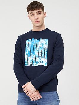 Boss Boss Woisch Print Sweatshirt - Navy Picture