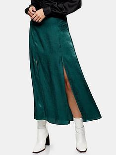 topshop-plain-satin-austin-midi-skirt-dark-green
