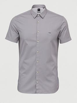 Boss Boss Magneton 1 Short Sleeve Stretch Shirt - Silver Picture